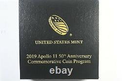 2019 W Apollo 11 50th Anniversary Curved Coin uncirculated gold $5 coin