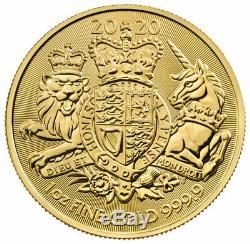 2020 Great Britain 1 oz Gold Royal Coat of Arms Coin GEM BU SKU60668