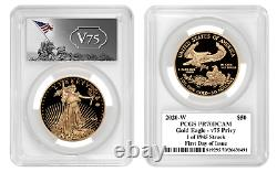2020 World War II 75th Anniversary Gold Eagle PCGS PR70DCAM V75 Privy In Hand