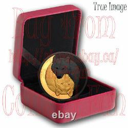 2021 Black and Gold Grey Wolf -$20 Pure Silver Gold/Rhodium-Plated Coin Canada