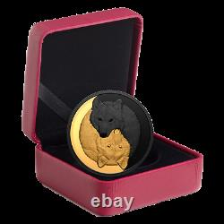 2021 Gold-Plated Coin-Black and Gold The Grey Wolf 1 oz. Pure Silver $20-Canada