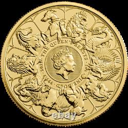 2021 Queen's Beasts Completer 1oz Gold Coin Whole Series of Beasts Griffin, Yale