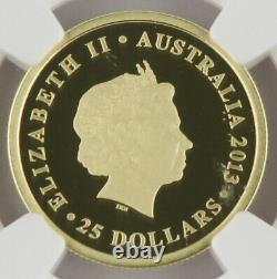 Australia 2013 One Sovereign $25 Gold Proof Coin NGC PF70 Ultra Cameo Perth Mint