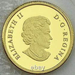 Canada 2014 The Grizzly Bear 1/10 oz Pure Gold Coin #1 O Canada $5 Gold Series