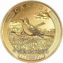 Canada 2016 Toonies 20th Ann. 4 Coin Gold & Platinum $2 Toonie Set 40 Bank Notes