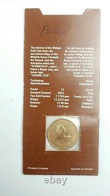 Canadian Olympic $100 Gold Coin 1/4 oz Montreal Olympics 1976