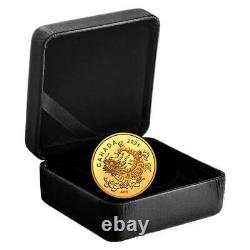 GOLD TRIUMPHANT DRAGON 2021 1.58g Pure Gold Coin Royal Canadian Mint