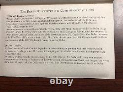 Jackie Robinson 50th Anniversary Commemorative Coin Gold $5 Proof & COA