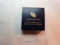 One 2012w Star Spangled Banner $5. Gold Commemorative Coin