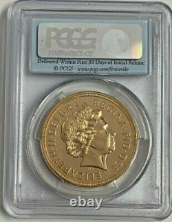 Rare 2012 Great Britain Gold £5 Coin#1 Diamond Jubilee Sovereign PCGS MS69