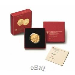 Roger Federer 2020 50 Swiss Francs Gold Coin Proof Commemorative Coin