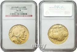 USA 2006 Buffalo 1 oz Gold Coin NGC MS70 First Strikes