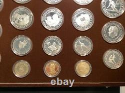 18 Silver & Gold Proof Coins Set 1984 Jeux Olympiques Winter Sarajevo Yugoslavia