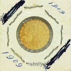 1909 $ 5 Us Gold Coin Indian Head Five Dollar Half Eagle American Coin USA