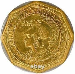 1915-s 50 $ Pan-pac Octogonal Or Pcgs Commémorative Ms63 Rare Rare Coin Coin