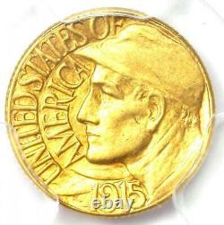 1915-s Panama Pacifique Dollar D'or G$ Coin Certifié Pcgs Au58 Rare