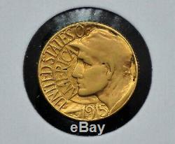 1915-s Panama-pacifique $ 1 Or Pièce Commémorative 089dud