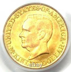 1916 Mckinley Pièce Commémorative En Dollars D'or G$ Certifiée Pcgs Ms64 (unc Bu)