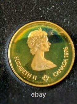 1976 Canada $100 Montréal Olympic Commemorative 22k Gold Coin 1/2 Oz. Coa De L'or