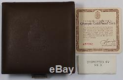 1976 Olympique Du Canada 100 $ 1/2 Once D'or Preuve Pièce Commémorative En Délivré