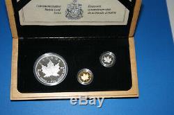 1979 -1989 10e Anniversaire Ensemble, Argent, Or Et Platine Coins