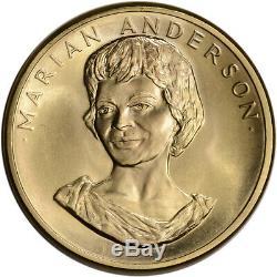 1980 Us Gold (1/2 Oz) Médaille Commémorative Arts Américaine Marian Anderson Bu