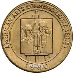 1980 Us Gold (1 Oz) Médaille Commémorative Arts Américaine De Grant Wood Bu