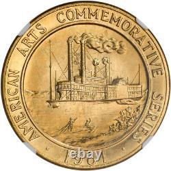 1981 Médaille Américaine D'or (1 Oz) Des Arts Commémoratifs Mark Twain Ngc Ms66