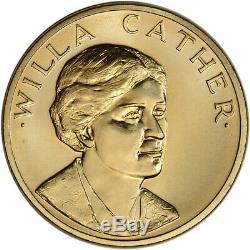 1981 Us Gold (1/2 Oz) Médaille Commémorative Arts Américaine Willa Cather Bu