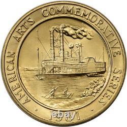 1981 Us Gold (1 Oz) Médaille Commémorative Arts Américain Mark Twain Bu