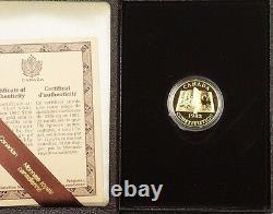 1982 Constitution Du Canada 100 $ 22k Pièce Commémorative À L'épreuve De L'or Tel Qu'émis