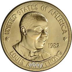 1982 Us Gold (1 Oz) Médaille Commémorative Arts Américain Louis Armstrong Bu