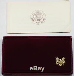 1983-1984 Commem Us Mint Olympic 3 Coin Silver & Gold Set Preuve En Délivré Dgh