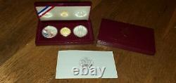 1983 / 1984 Ensemble De Preuves Olympiques De La Monnaie Américaine 3 Pièces (10 $ D'or, 1 $ D'argent, 1 $ D'argent)