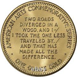 1983 Us Gold (1 Oz) American Commemorative Arts Medal Robert Frost Bu