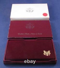 1984 S Olympic 10 $ Proof Pièce D'or Commémorative Avec Boîte Et Manches