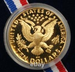 1984 W $10 Gold Eagle Proof Olympic De Preuve Pièce Commémorative Ogp