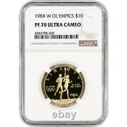 1984-w Or Américain 10 $ Preuve Commémorative Olympique Ngc Pf70 Ucam
