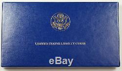 1986 Us Mint Liberté Commémorative 3 Coin Silver & Gold Proof Set Amt Comme Délivré