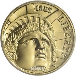 1986-w Us Gold $5 Statue Of Liberty Commemorative Bu Pcgs Ms69