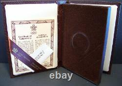 1987 Canada 100 $ Jeux Olympiques De Calgary 14k 1/4oz Pièce D'or Proof Avec Coa, Case & Box