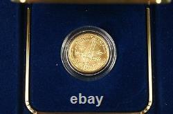 1987 U.s. Mint Constitution $5 Gold Bu Commemorative Coin Box & Coa Ogp