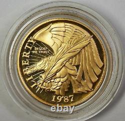 1987-w Preuve $5 Constitution Pièce D'or Avec Capsule Originale De Menthe