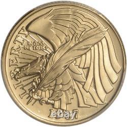 1987-w Us Gold $5 Constitution Commemorative Bu Pcgs Ms69
