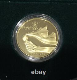 1988 Canada Calgary Olympic Proof Set 10 Argent 20 $ Pièces De Monnaie Et 1/4 Oz 1987 Or