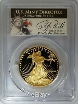 1988-w 50 $ Gold Eagle Pcgs Pr70dcam Philip Diehl