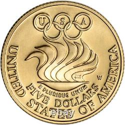 1988-w Us Gold $5 Olympic Commemorative Bu Coin In Capsule