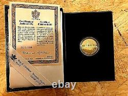 1991 Or Canadien 100 $ Proof Coin Mib With Coa