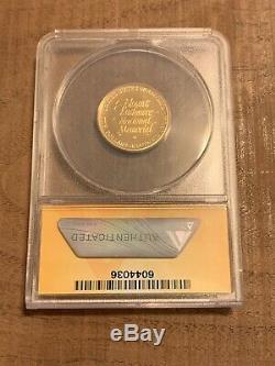 1991 Rushmore Preuve Commémorative D'or Us $ 5 Coin Anacs Pf69 Profonde Cameo-1/4 Oz