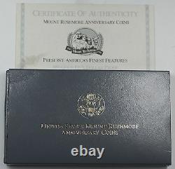 1991-w Mount Rushmore Proof 5 Dollars D'or Comme Pièce Commémorative Émise